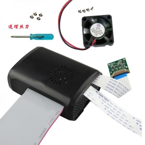 باکس مشکی  فن دار  رزبری پای box raspberry pi 2 و بی پلاس